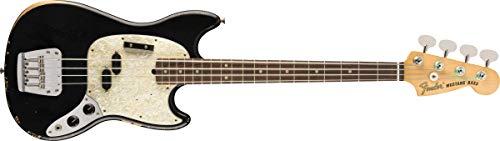 Fender JMJ Road Worn Mustang Bajo Guitarra, Negro