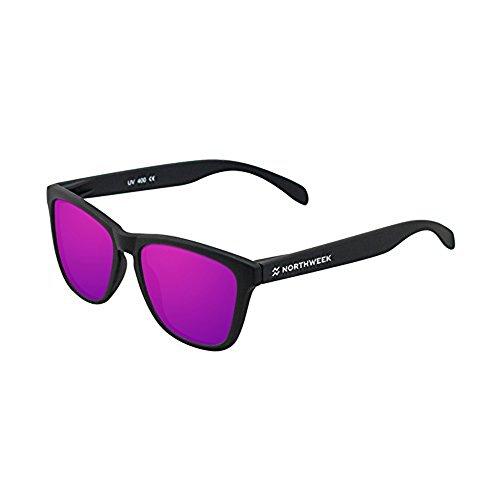 Northweek Regular Bowl - Gafas de Sol Polarizadas, Negro/Morado