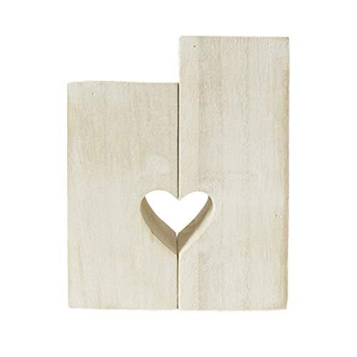 shenruifa Portavelas de madera con forma de corazón personalizable, para el día de San Valentín, portavelas decorativo para bodas, regalo para mujeres y novias.