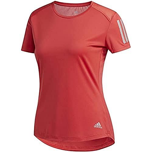adidas Own The Run tee Camiseta de Manga Corta, Mujer, Glory Red, XS