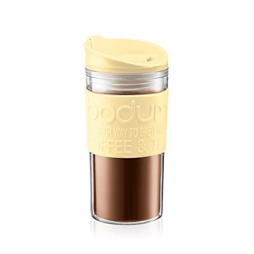 BODUM – 11103-341B-Y19 – TRAVEL MUG – Thermobecher aus Kunststoff, Klappdeckel – 0,35 l