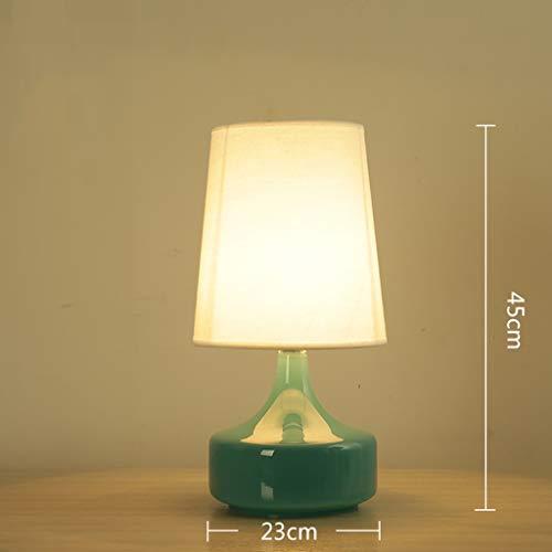 Home - Table lamp Wohnaccessoires-CSQ Kaffee Tischdekoration Lampe, Transparent Dickes Glas Tischlampe E27 3 Farben 23 * 23 * 43cm Tischlampe warmes Licht Schreibtischlampe Innenbeleuchtung-CSQ