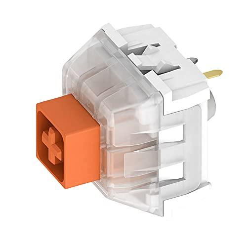 Shiwaki Interruptores de Caja para teclados de Juegos mecánicos interruptores de 3 Pines Resistentes al Agua Compatible con SMD - Naranja