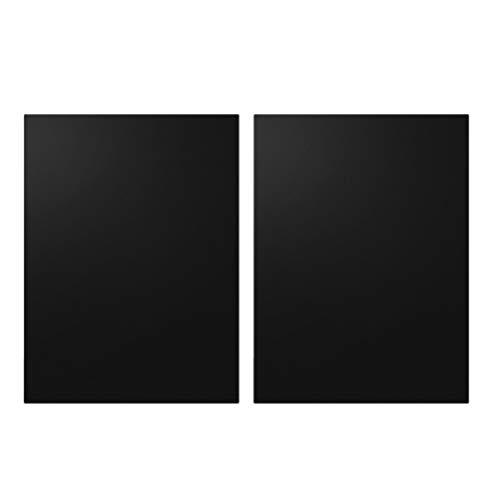 Yarnow 2 Stks BBQ Grillmatten Non-Stick Hittebestendige Glasvezel Barbecue Bakmat Voor Gas Houtskool Elektrische Grill Ovens 50X40 Cm (Zwart)
