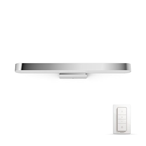 Philips Hue Adore - Luz para espejo / aplique LED inteligente para baño con mando, luz regulable de blanca cálida (2200K) a fría (6500K), iluminación conectada, compatible Apple Homekit y Google Home
