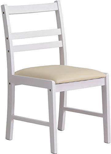 デスクチェア チェア 椅子 ホワイト 白 幅41 奥行50 高さ79.5 おしゃれ 北欧 アンティーク カントリー シンプル 木製 姫系 一人暮らし 新生活 (デスクチェア)