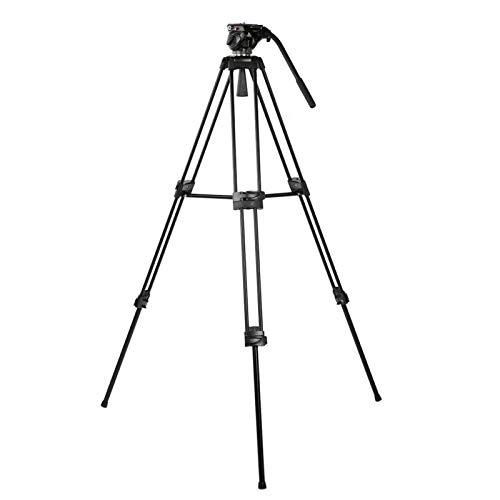 1994 Treppiede per Fotocamera, treppiede da Viaggio Miliboo MTT601A con Testa a Sfera idraulica a 360 ° per videocamera DSLR Canon/Nikon/Sony