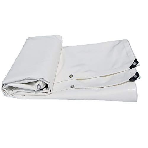 LXLIGHTS Bache Impermeable Auvent, De Plein Air Bâche Camion Linoléum Toile De Protection Imperméable/Solaire, Polyester Épaisseur 0.55MM 650g \ M2 (Couleur : Blanc, Taille : 200 * 300cm)