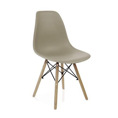 duehome - Nordik - Pack 4 sillas, Silla de Comedor, Salon, Cocina o Escritorio, Acabado en Madera de...