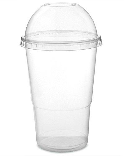 Vaso Transparente PET para Smoothies de 354ml con Tapa x 100