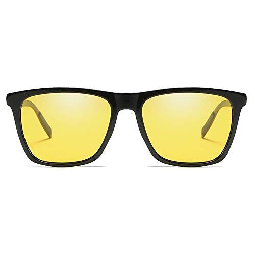 Stella Fella Fashion Colorful Polarized Metallic Sunglasses Black/Blue/Green/Purple/Yellow Hombres Y Mujeres New Driving Driving Sunglasses (Color : Yellow)