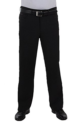 ALBERTO Regular Slim Fit Hose schwarz
