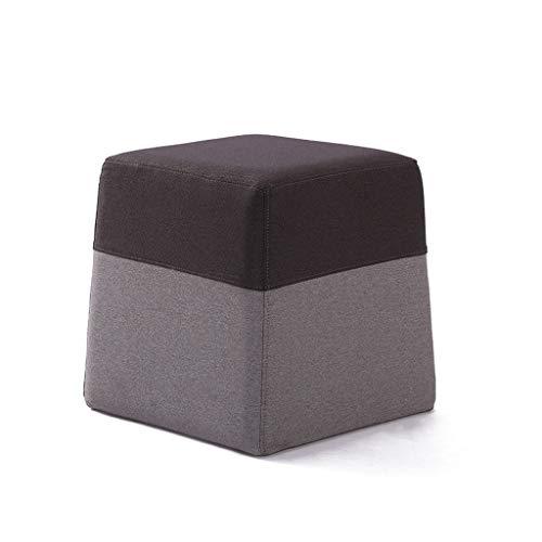 DYY Taburete de Madera Maciza de Cuero/Tela Funda de Asiento Rebound Sponge Filling Sala de Estar de Moda Taburete de Mesa de café Taburete de Maquillaje Banco de Zapatos (Color : F, Tamaño : Small)