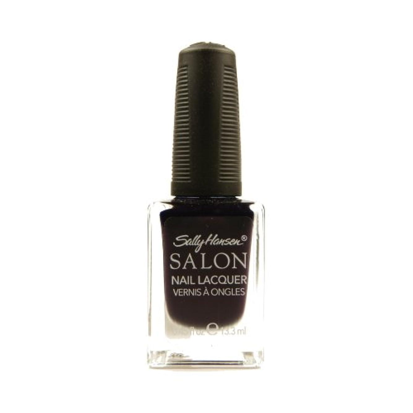 枯渇する生産性観客SALLY HANSEN Salon Nail Lacquer 4134 - The Deepest of Violets (並行輸入品)