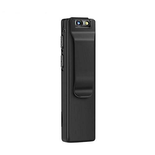 Cámara Corporal portátil DEXILIO, Mini videocámara 1080P con detección de Movimiento, pequeña cámara de vigilancia de Seguridad con Tarjeta de 32 GB (sin WiFi).