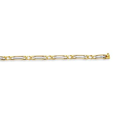 14K amarillo+oro blanco 8.5 pulgadas brillante Fancy hombres pulsera Rolex