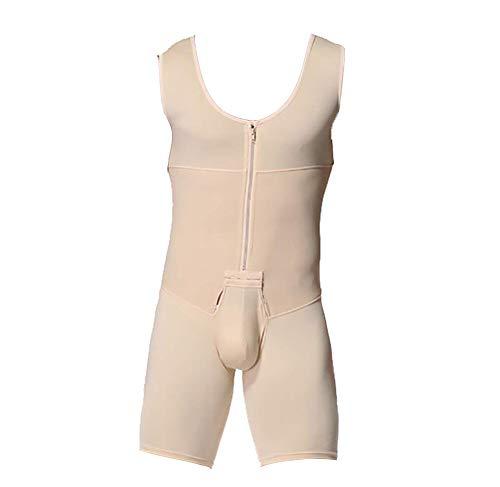 Whlucky Compresión Faja Reductora Completo Cintura Entrenador Fajas Body Control de Barriga Soporte para la Espalda Camisetas sin Costuras,Beige,m
