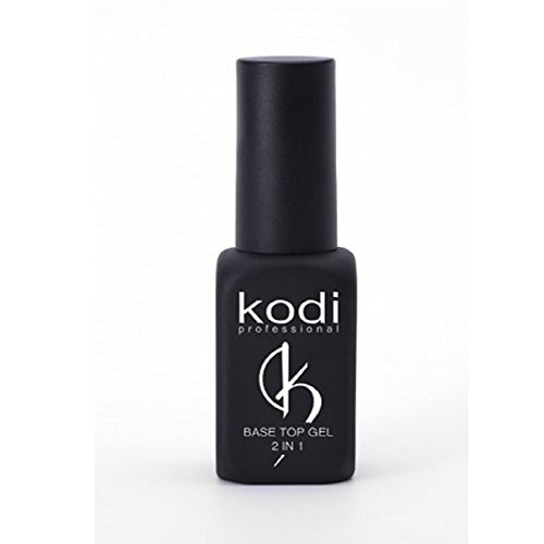 Kodi Professioneller Gummi-Basislack/Überlack, 2 in 1, Soak-Off-Gel-/LED-/UV-Nagellack, 8 ml