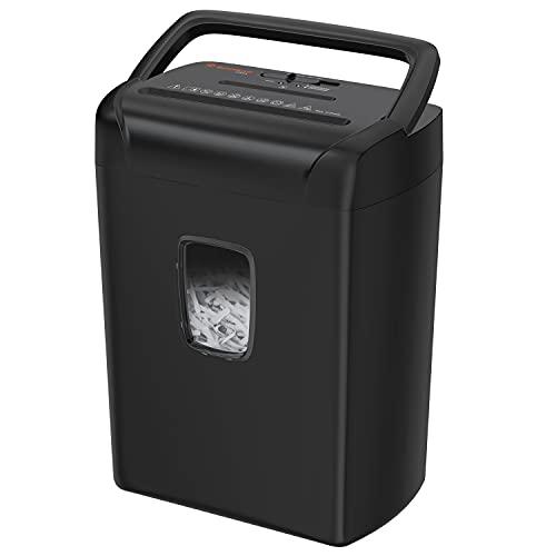 Bonsaii 12-Blatt-Papierschredder, Kreuzschnitt-Aktenvernichter für den Heim- und Bürogebrauch, zerkleinert Kreditkarten/CDs/Klammern, tragbares Griffdesign mit 21-Liter-Abfallbehälter C243-A