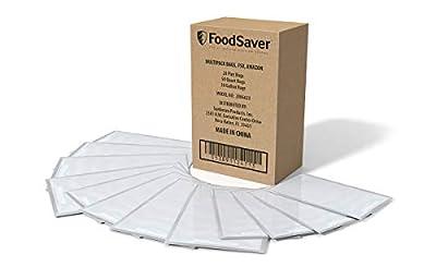 FoodSaver Vacuum Sealer, Bags Multipack, 100 Count | 20 1-Pint, 50 1-Quart, 30 1-Gallon Bags