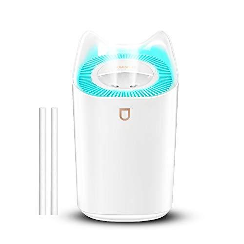 VBLL 3L Mist Luftbefeuchter, 2 Düsen, 3 Nebelmodi, Nachtlichtfunktion, USB Wiederaufladbare Leise Luftbefeuchter mit 20 Arbeitsstunden für Baby Zuhause Schlafzimmer Büro