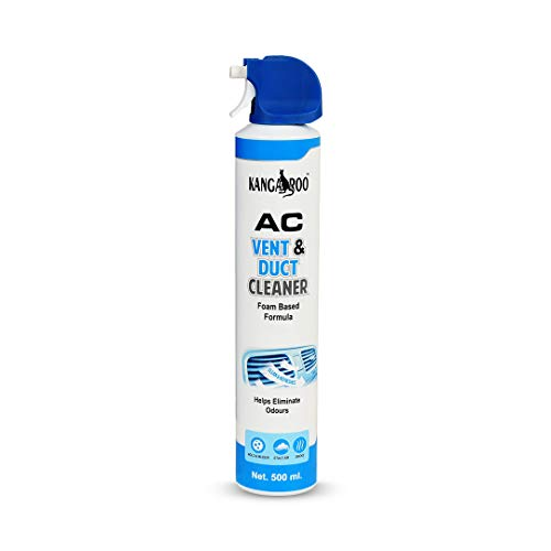 KANGAROO Car AC Vent & Duct Cleaner Odour Neutralizer Spray Form with Long No-sal Pipe for Effective Cleaning 500 ml - Pack of 1