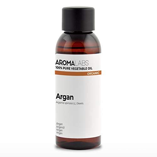 100% BIO - Huile végétale d'ARGAN - 50mL - Garantie Pure, Naturelle, Certifiée Biologique, Pressée à froid - Aroma Labs (Marque Française)