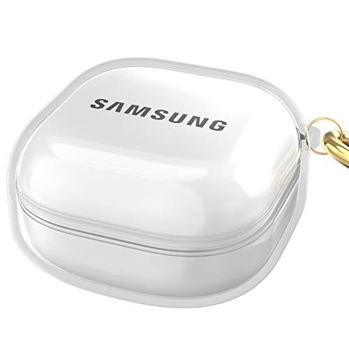 SHINEZONE Kompatibel mit Samsung Galaxy Buds Pro (2021) Hülle, [Front-LED Sichtbar] Kompatibel mit Samsung Galaxy Buds Live Hülle (2020) - Transparent