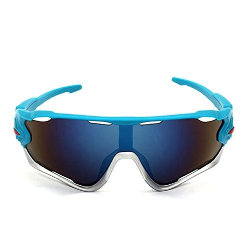 ZYUJ Gafas de sol polarizadas deportivas para hombres y mujeres con lentes intercambiables para correr, golf, béisbol, ciclismo, pesca C5