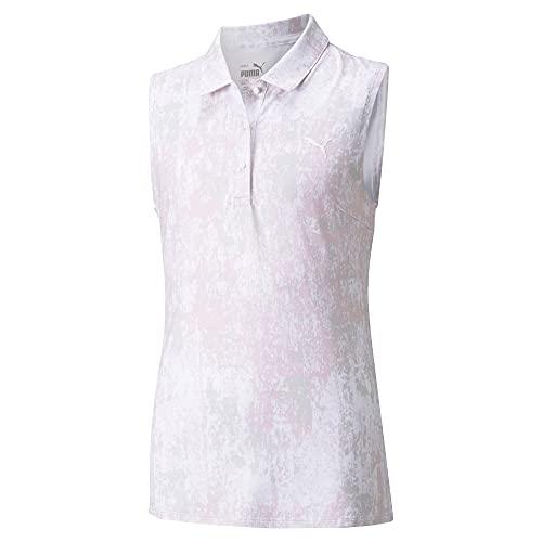 PUMA Golf- Junior Girls Cloudspun Concrete Sleeveless Polo Parfait Pink Extra Large