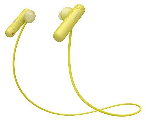 Sony WI-SP500 Kabelloser Sport Kopfhörer (Bluetooth, IPX4 wasserfest, bis zu 8 Stunden Batterielaufzeit, Freisprechfunktion), Gelb
