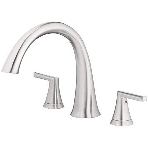 Jacuzzi Lauren Brushed Nickel 2-handle Commercial/Residential Deck Mount Roman Bathtub Faucet