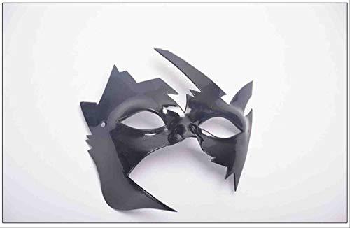 WTNL Halloween Jazz masker met platte kop antiek masker halfgezicht masker vechtmasker Halloween Zwart