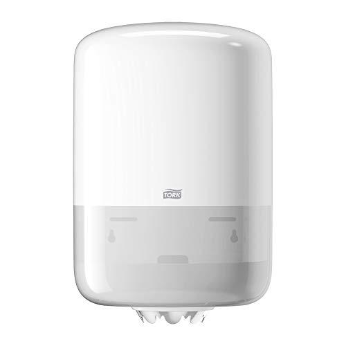 Tork 559000 Dispensador de alimentación central Elevation/Soporte de papel mecha compatible con el sistema M2 / Blanco