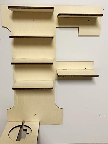 DIY Regal Buchstabe A-Z für die Musikbox passend für Toniebox Kinder Baby Zimmer zum selbst bemalen mit Wunschname tolles individuelles Geschenk zum Geburtstag zu Ostern Weihnachten (Buchstabe: F)