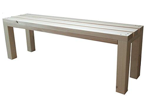 TOTAL WOOD 2012 Gartenbank Sitzbank Holzbank parkbank terrassenmobel für Innen und Außen geeignet 100x38.5x50 cm. Nach Maß verfügbar!