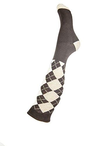 HKM Erwachsene Reitsocken -Windsor Socken, Dunkelbraun/Camel, 38/40