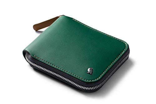 Bellroy Zip Wallet (oltre 8 carte, banconote stese, tasca magnetica per monete con facile accesso) - Racing Green
