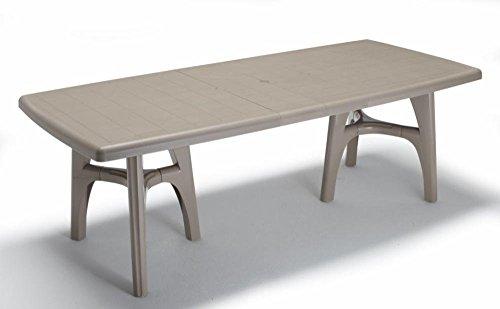 Idée Tables extérieur, tables télescopiques Table en plastique, Table extensible, table de jardin, table taupe pour extérieur, table 170 \ 220ideapiu