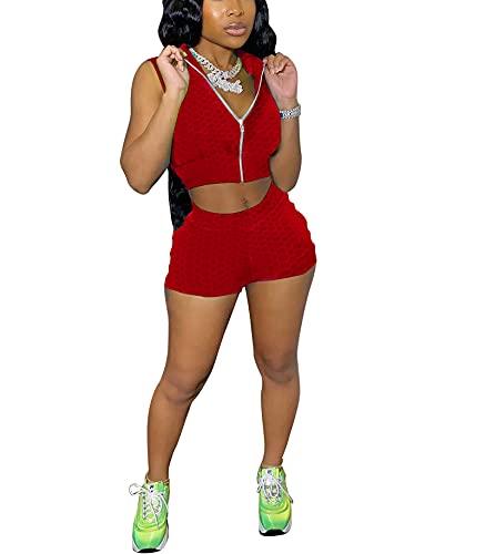 2 piezas traje de levantamiento de glúteos para mujer, cintura alta, correr, fruncido levantamiento de glúteos, pantalones cortos + Y2k Tank Tops estéticos