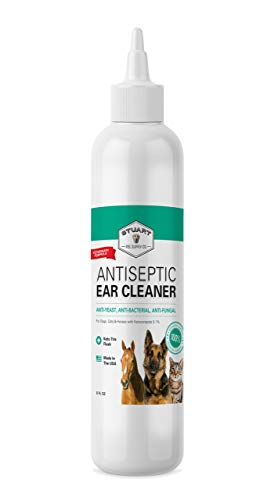 Stuart Pet Supply Co. Antiseptic Dog Ear Infection Treatment (8 oz) -Veterinary Formulated-Veterinary Recommended for Head Shaking, Itching, Discharge & Smelly Ears 100% Guarantee
