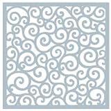 Gina K Designs Art Stencil, 6' x 6' - Rounded Swirl