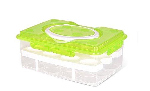 milopon Huevos listones Huevera Huevos estante para frigorífico doble capa Huevos Caja...