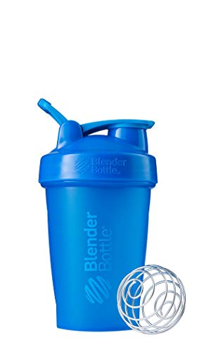 BlenderBottle Classic Shaker Bottle Perfect for Protein Shakes and Pre Workout, 20-Ounce, Cyan/Cyan