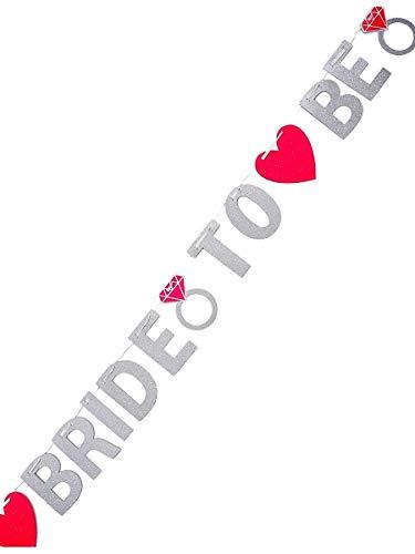 "Glitzer Girlande ""Bride to be"" - 2"