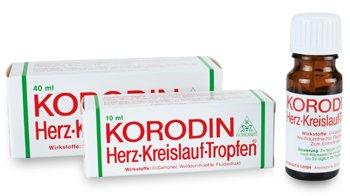 Korodin Herzkreislauftropfen aus Weißdornfrucht-Fluidextrakt und D-Campher, bei Schwindel infolge niedrigen Blutdrucks, Spar-Set 3x10ml