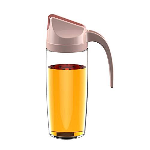 Benedict Pot à huile en verre à ouverture automatique pour cuisine domestique en plastique anti-fuite Réservoir d'huile de soja bouteille de vinaigre