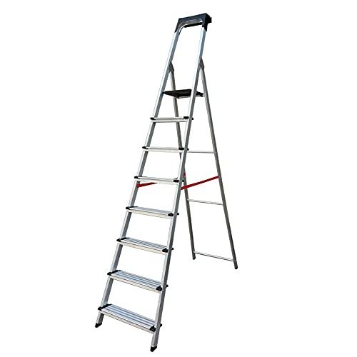 Escalera Ancha de Aluminio SUPER PLUS (8 Peldanos). BTF-TJB408