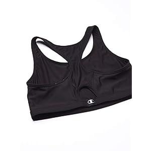 Champion Women's Plus-Size Vented Compression Sports Bra, Black, 2X