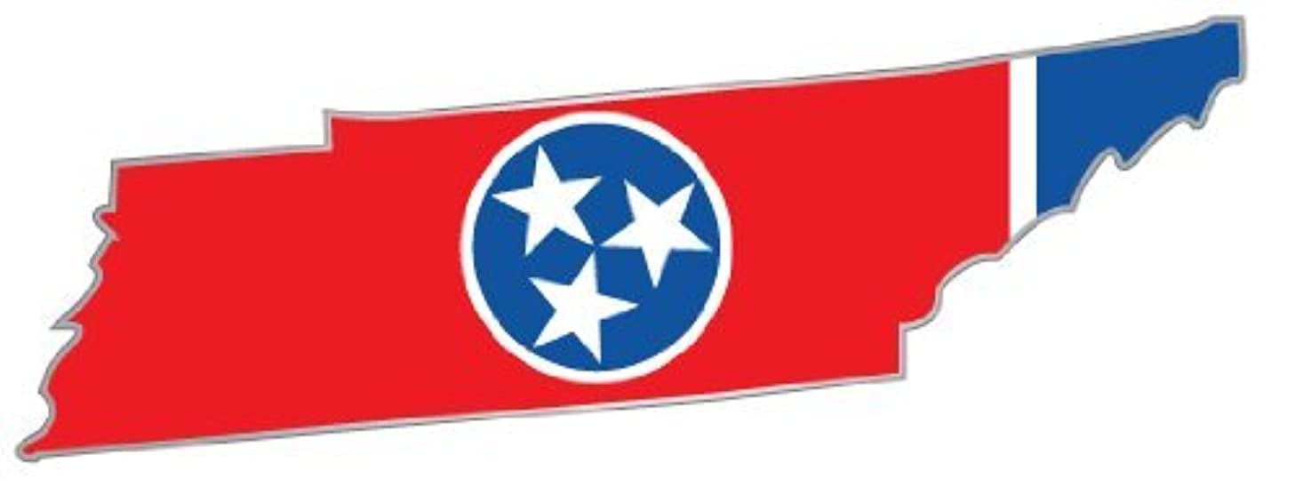 Tennessee state map flag sticker decal 6